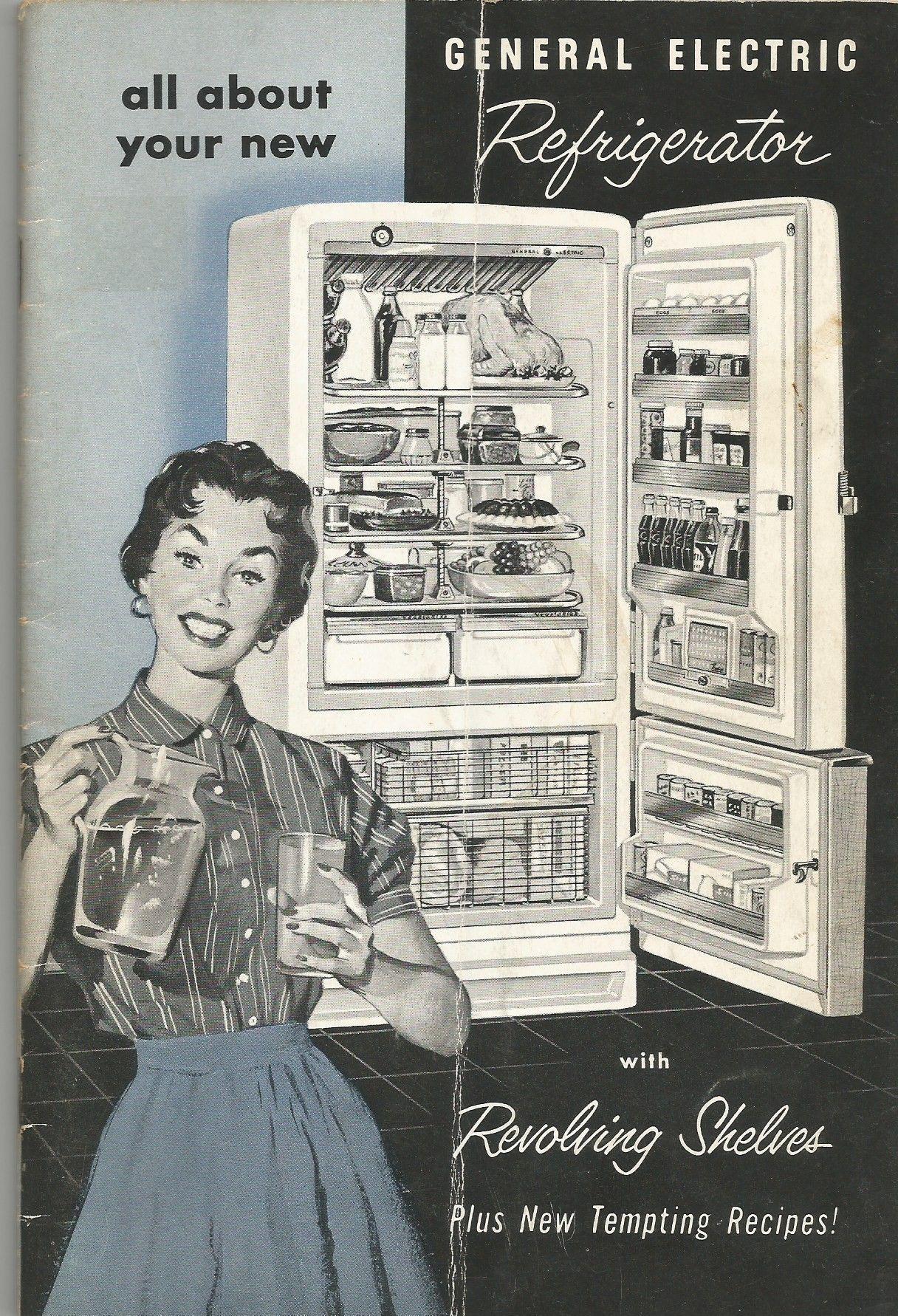 vintage general electric refrigerator instruction manual booklet rh pinterest com GE Refrigerator Manual GE Profile Performance Refrigerator Manual
