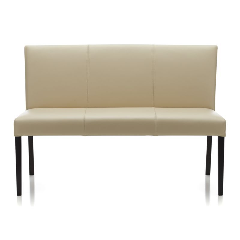Lowe Ivory Leather Bench | Crate And Barrel; Is This Too Formal For The  Breakfast Area With The Terra Or Parson Table ?