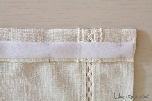 Un tutorial passo passo di come cucire le tende a for Cucire tende a vetro
