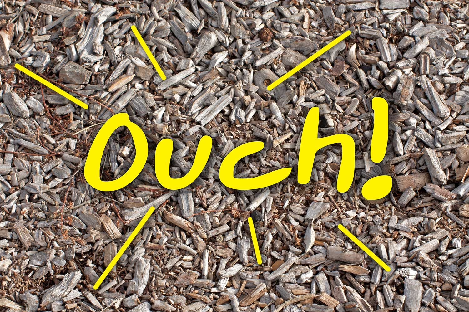 Woodchips Are Not A Good Surface For Playgrounds Adventure Turf Wood Mulch Landscaping Around House Mulch