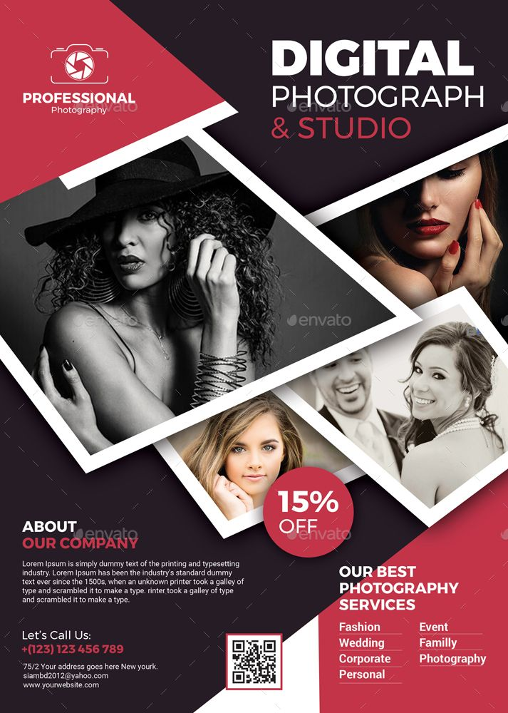 Photography Flyer Templates (With images)   Photography ...