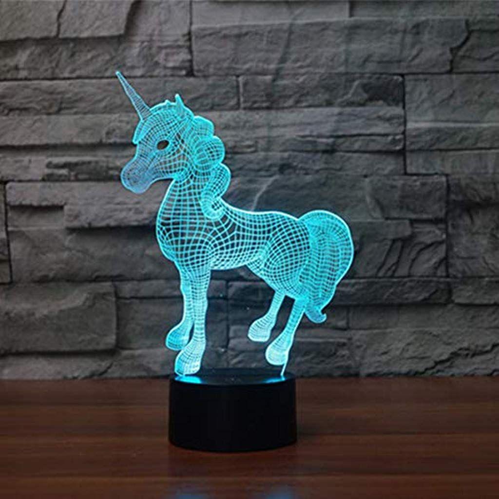 3d Illusion Lampe Led Nachtlicht Lampen Kidspark Optische Einhorn Nachtlichter Tischlampe Kinder Nachttischlampe 7 Nachttischlampe Kinder Led Lampe Tischlampen
