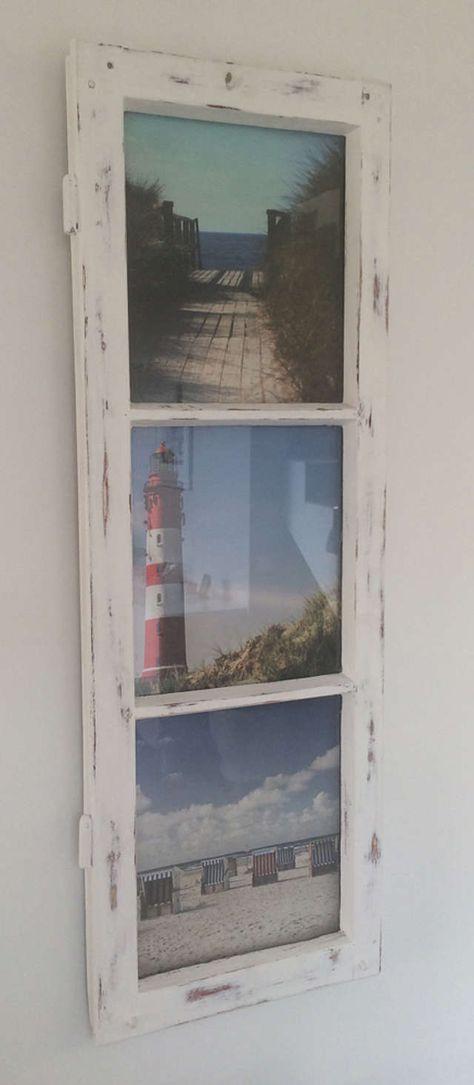 Bilderrahmen aus Sprossenfenster | Selfmade | Pinterest ...