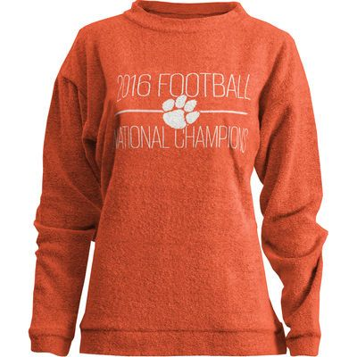08f9dd6e660 Clemson Tigers Women s College Football Playoff 2016 National Champions  Comfy Terry Sweatshirt - Orange