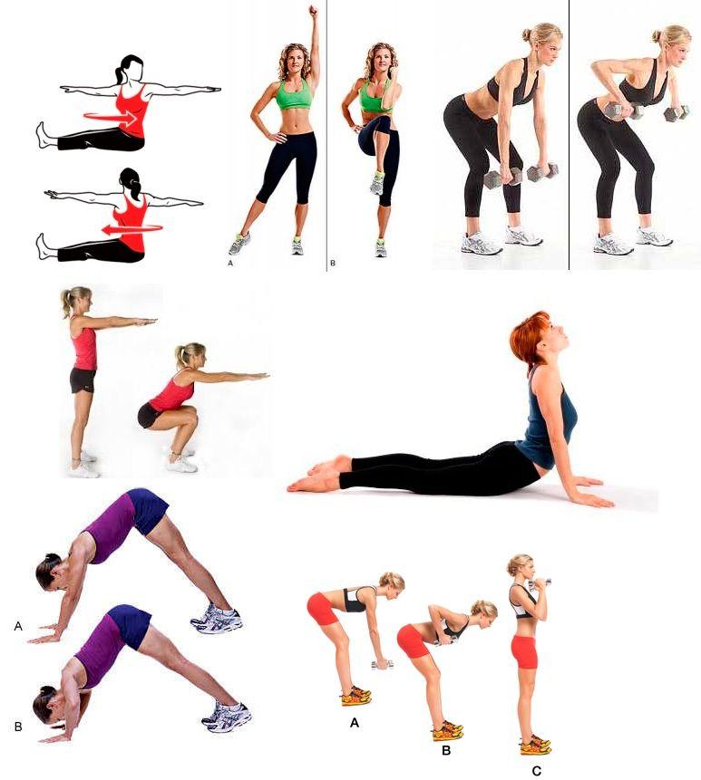 Какие упражнения можно делать при диете