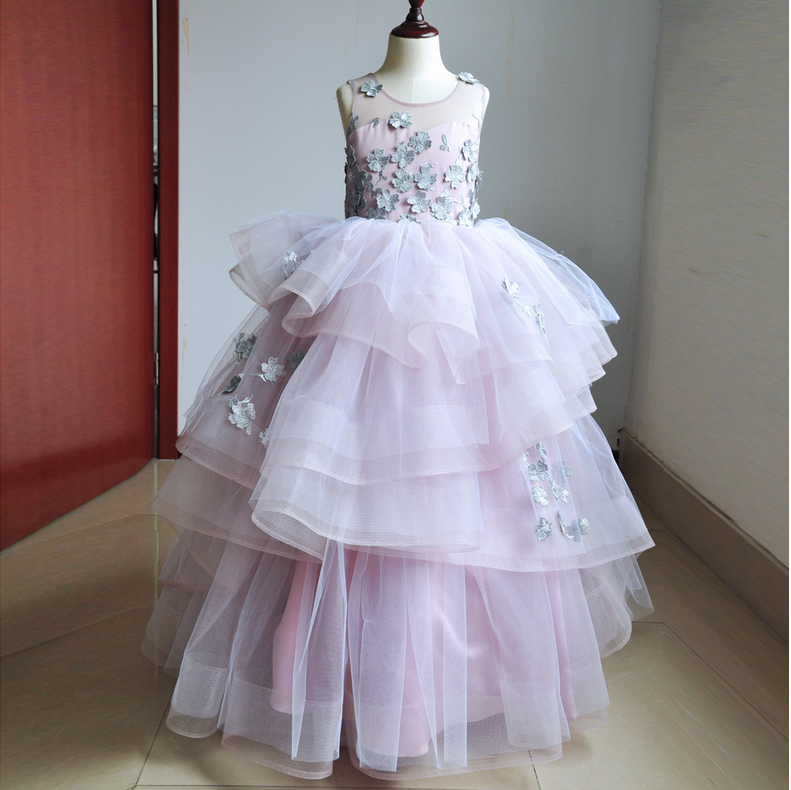 GIRLS PARTY DRESSES BOW DETAIL FLOWER GIRL WEDDING PAGEANT BRIDESMAID 2-12 Y