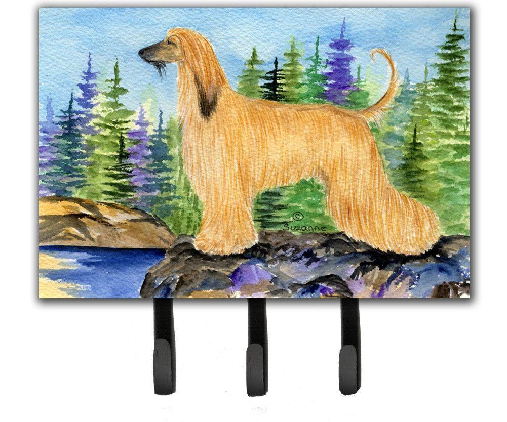 Afghan Hound Leash Holder or Key Hook | Afghan hound and Products