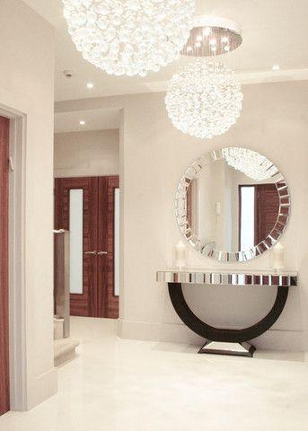 Quartz Black Mirrored Console Table u0026 Mirror Set & Quartz Black Mirrored Console Table u0026 Mirror Set | Decorations ...
