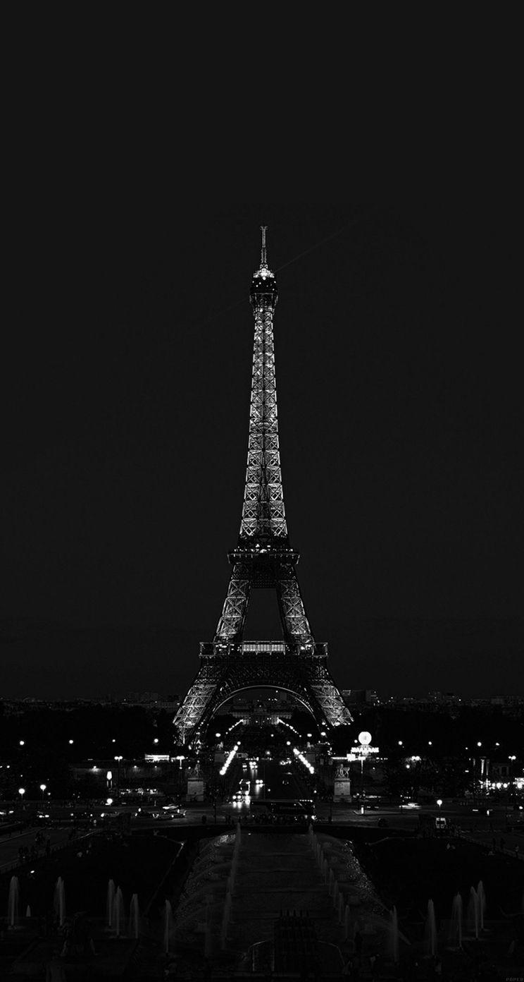 ParisNightFranceCityDarkEiffelToweriphone5s