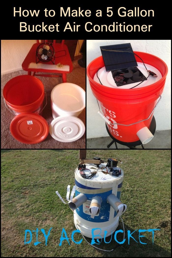 How to make a 5 gallon bucket air conditioner (With images