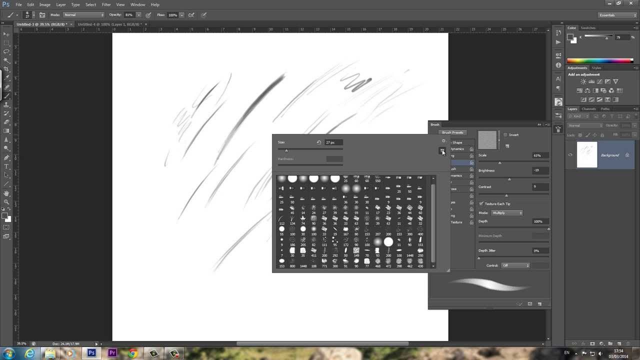 How to make a basic sketch pencil brush in adobe photoshop custom how to make a basic sketch pencil brush in adobe photoshop custom brush tutorial baditri Image collections