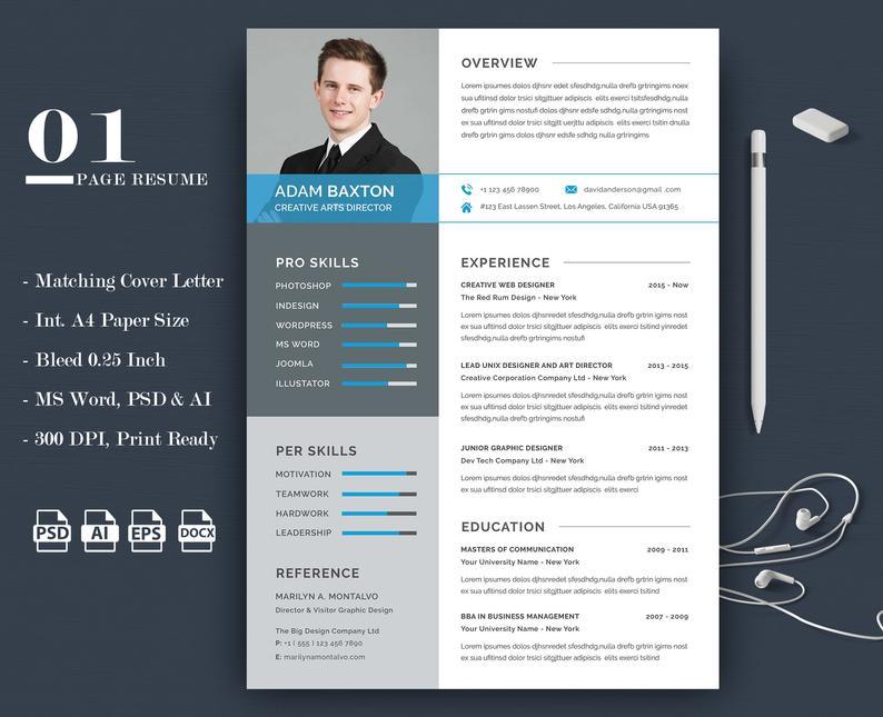 Aterials Photoshop Illustrator Vector Eps Ms Word Adobe Photoshop Adobe Illustra Resume Template Word Resume Template Professional Medical Resume Template