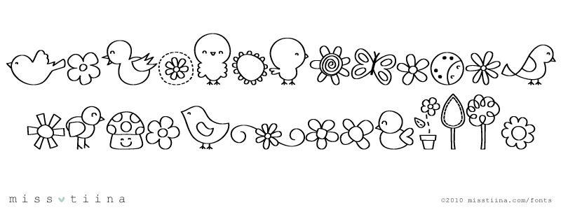100+ Cute Dingbat Fonts – yasminroohi