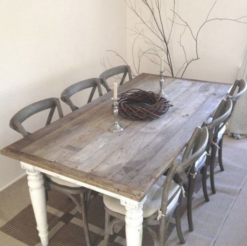 Shabby Chic Kitchen Table: Shabby Chic Dining Table Chairs And Bench Home Design