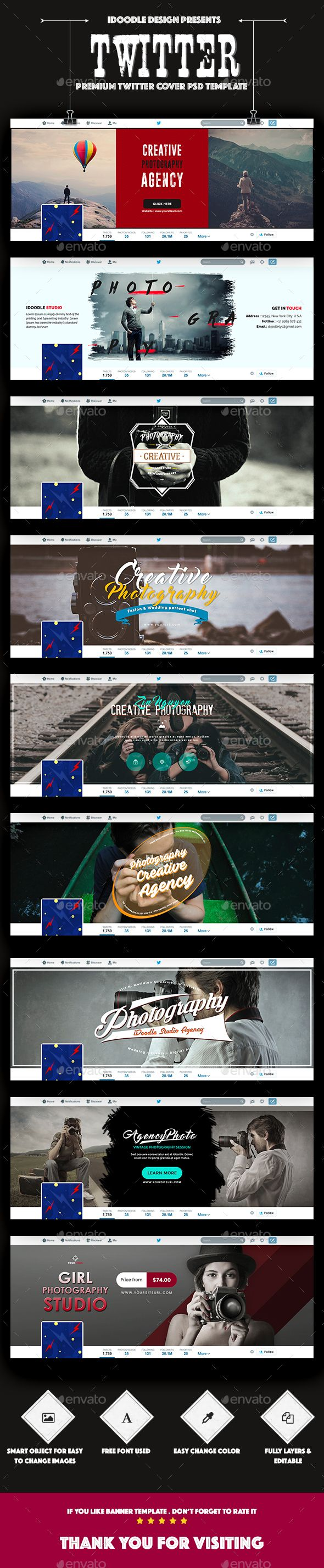 Photography Twitter Headers - 09 PSD | Header, Psd templates and ...