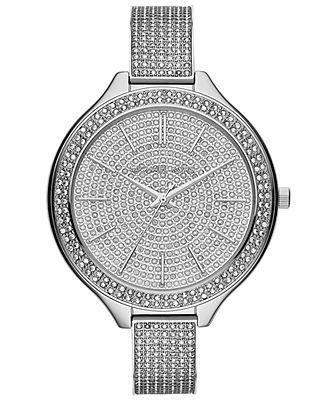 6efce3be6919 Michael Kors Women s Slim Runway Glitz Stainless Steel Bracelet Watch 43mm  MK3250