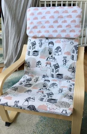 diy tutorial bezug f r ikea po ng kindersessel n hen n hen pinterest n hen rosa wolken. Black Bedroom Furniture Sets. Home Design Ideas