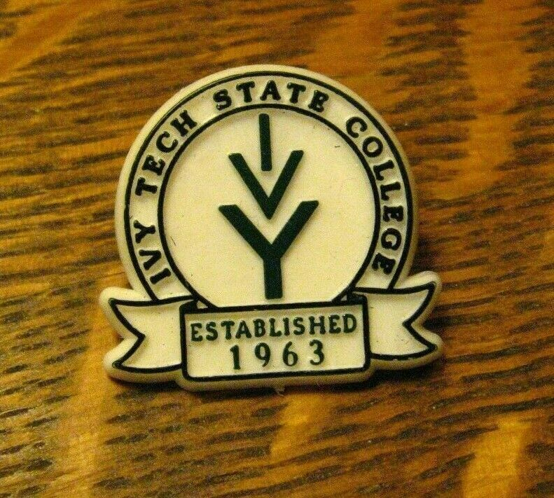 Ivy Tech Lapel Pin Vintage Indiana State Community