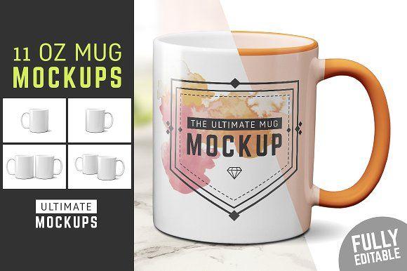 11 Oz Mug Mockup Templates By Ultimate Mockups On