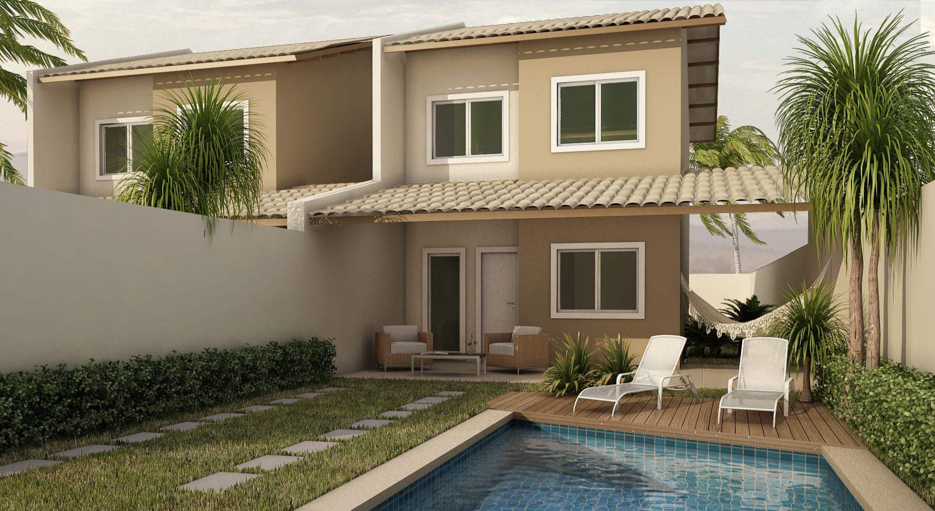 fotos de fachadas de casas duplex sobrados projeto casa