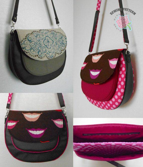Crossbody Saddle Bag PDF Sewing Pattern, Cross Body Purse