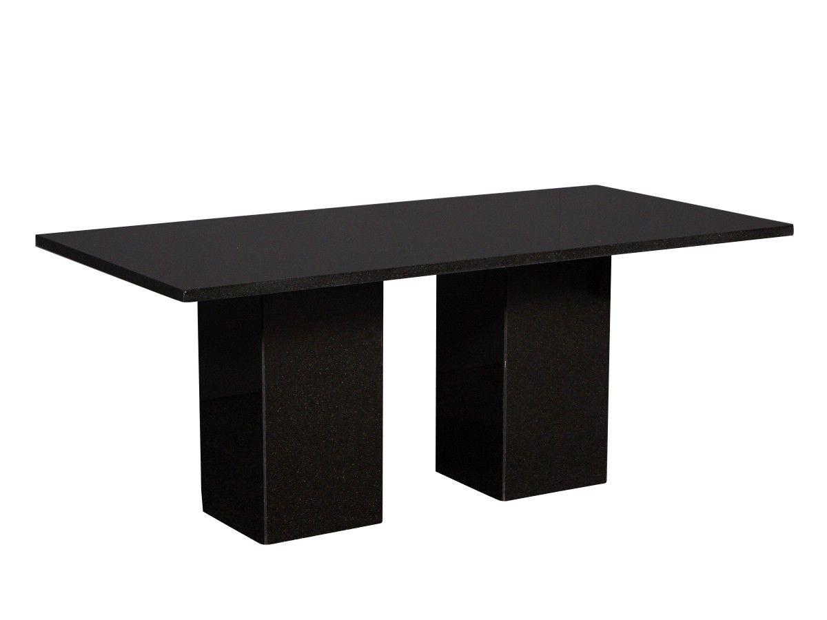 Esstisch aus Granit in der Farbe Schwarz #gartenmöbel #gartentisch ...