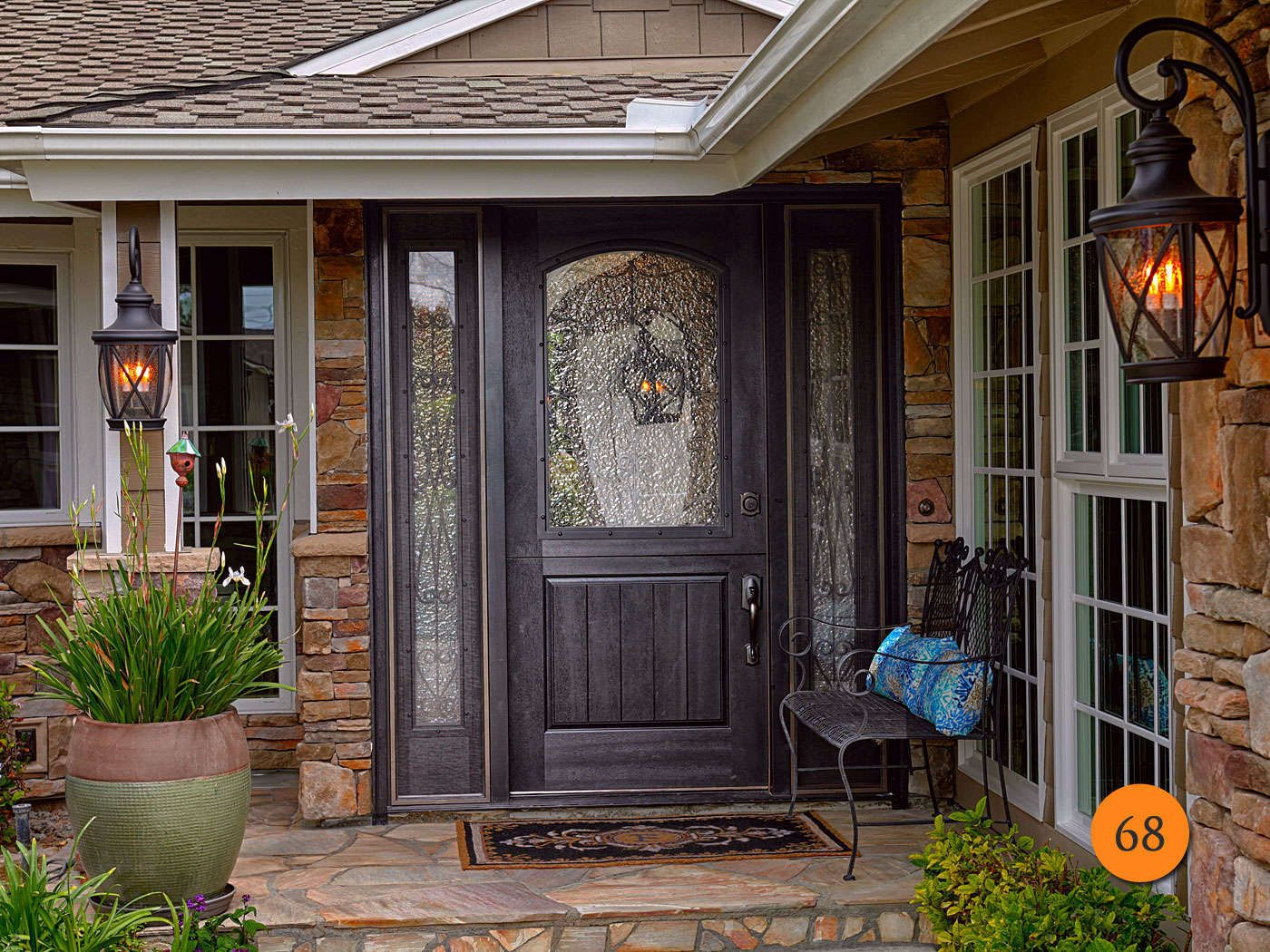 plastpro model dra2a single dutch door with two operable sidelights with screens top leaf half