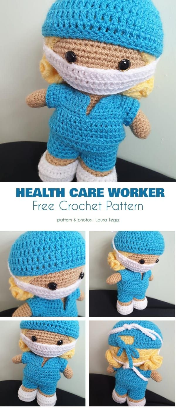 Softies with a Facemask Free Crochet Patterns