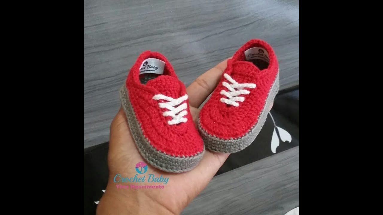 c7eea4eee8 Tênis VANS de crochê - Tamanho 09 cm - Crochet Baby Yara Nascimento ...