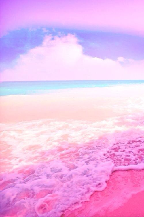 Pink Pastel Beach Water Ocean Waves Tropical Sand Beach Wallpaper Waves Instagram