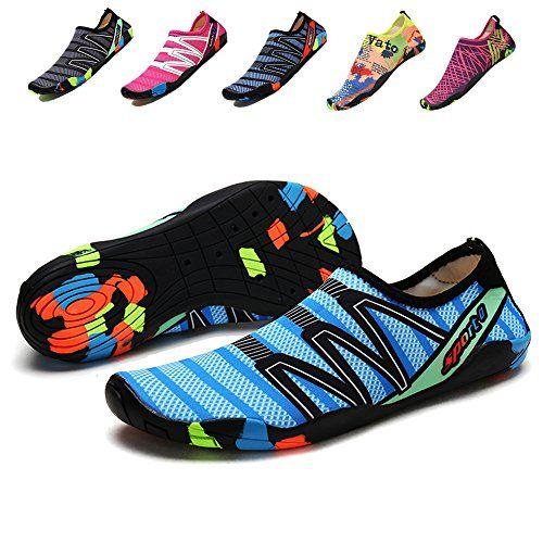 7d6fec927e8b Sanyge Breathable Mens Womens Water Shoes Beach Swim Shoes Quick-Dry Aqua  Socks Pool Shoes for Surf Yoga Exercise(FBA)