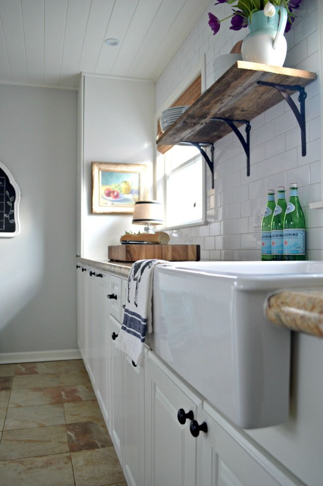 A DIY small kitchen remodel done on