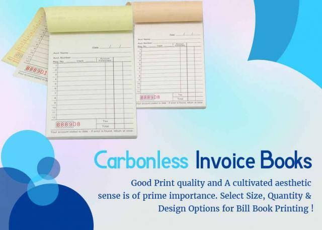 Carbonless Invoice Books Good Print Quality And A Cultivated - Carbon invoice book printing