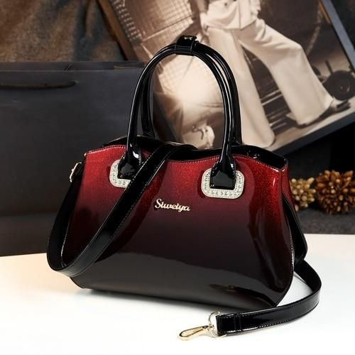 d536127233 2018 New Boston Pillow Bag High Quality Bright Patent Leather in ...