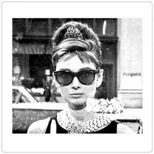 8a95117d1371 Audrey Hepburn Breakfast at Tiffany s Sunglasses - Black  1017 BK1 ...