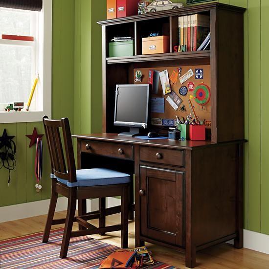 The Land Of Nod Kids Desks Chairs Kids Chocolate Brown Walden Desk In All Sale Items Kids Desk Chair Simple Desk Kids Furniture Design