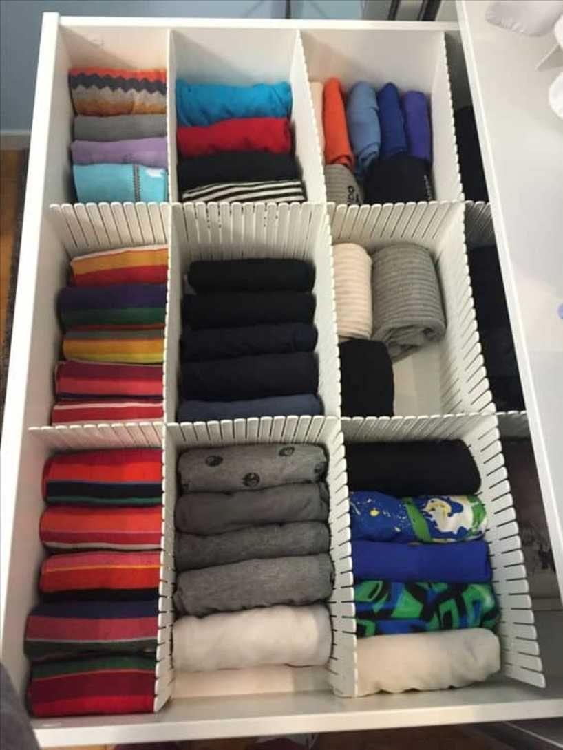 8 creative ways to organize baby clothes that you can try