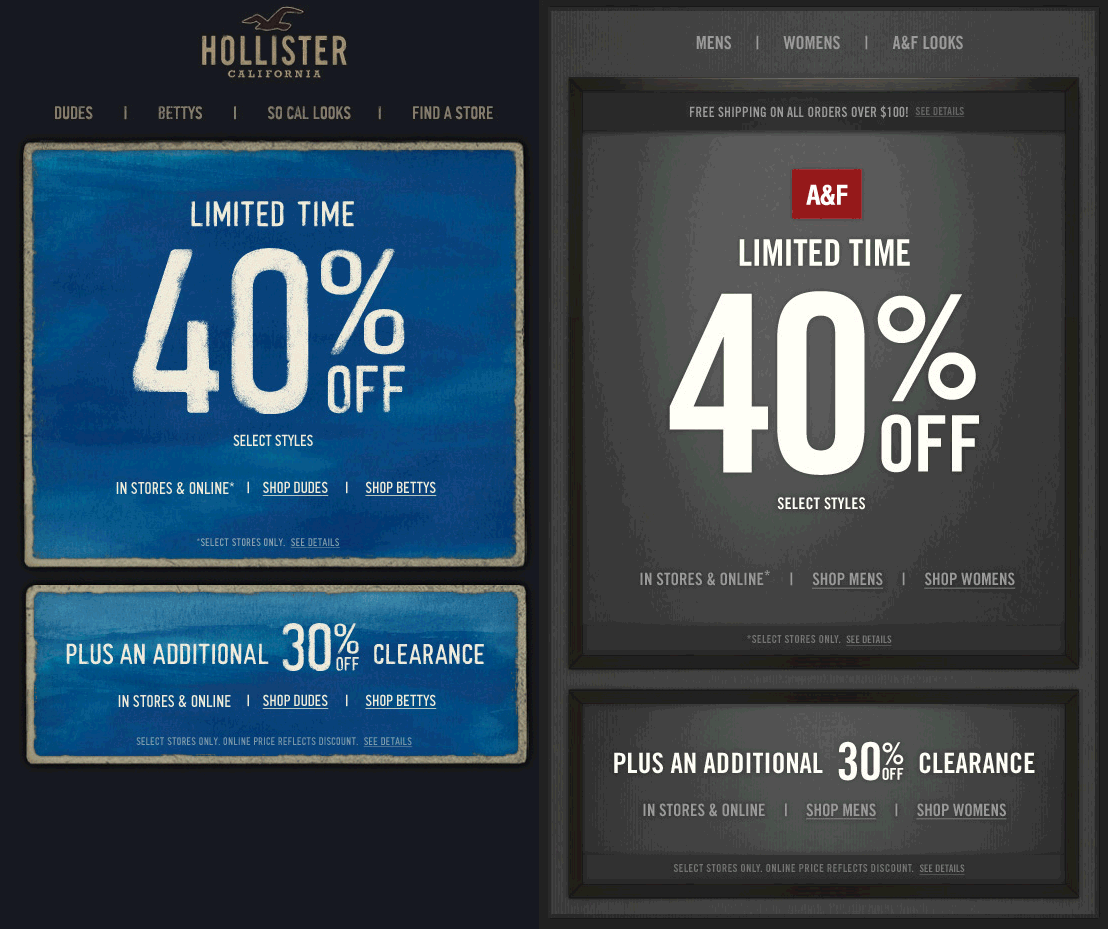 Extra 30 Off Clearance And More At Hollister And Abercrombie Fitch Also Online Coupon Via The Coupons App Coupon Apps Online Coupons Coupons