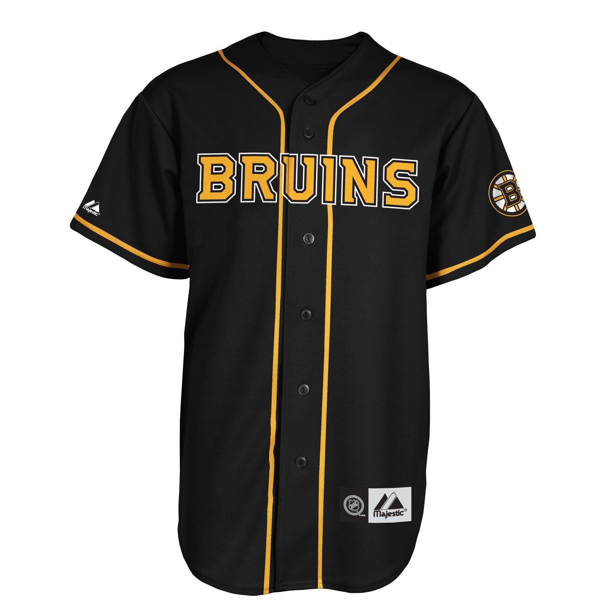 6d99be93e NHL Men's Boston Bruins Short Sleeve Button Front Replica Jersey (Pro  Black/Pro Light Gold, XX-Large)
