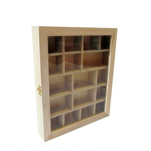 Wooden Glass Fronted Shadow Display Box With Compartments Hinged Door Wooden Shadow Boxes Box F Wooden Shadow Box Plain Wooden Boxes Wooden Storage Boxes