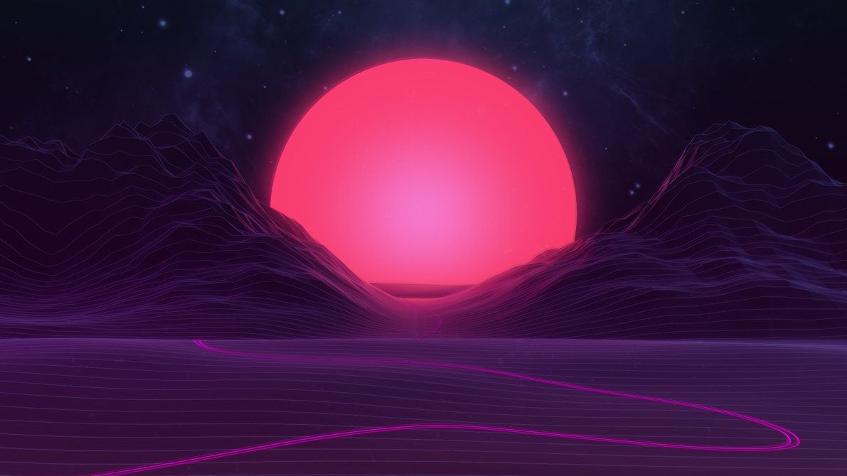 Neon Sunset By Axiomdesign Aesthetic Desktop Wallpaper Vaporwave Wallpaper Neon Wallpaper
