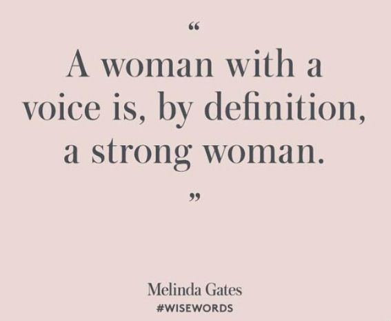 A strong woman speaks up
