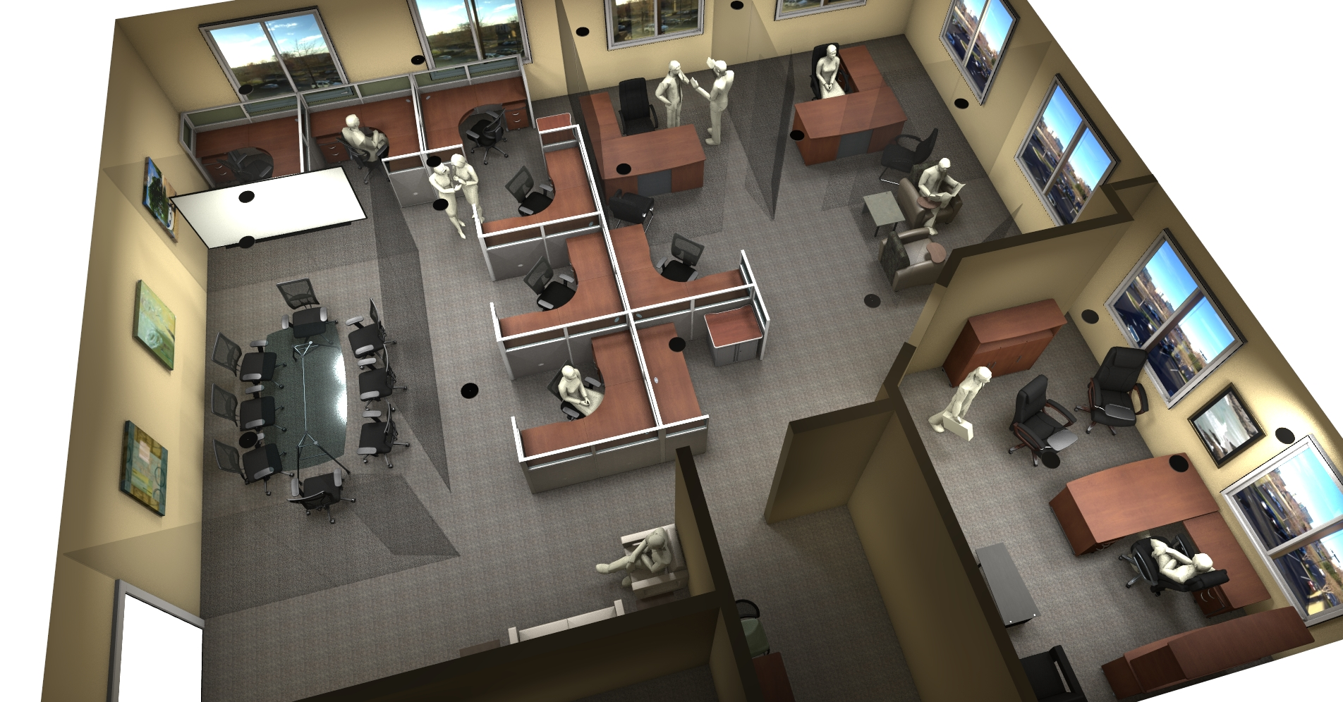 Create your dream workspace with ofm and 20 20 for Office furniture layout tool