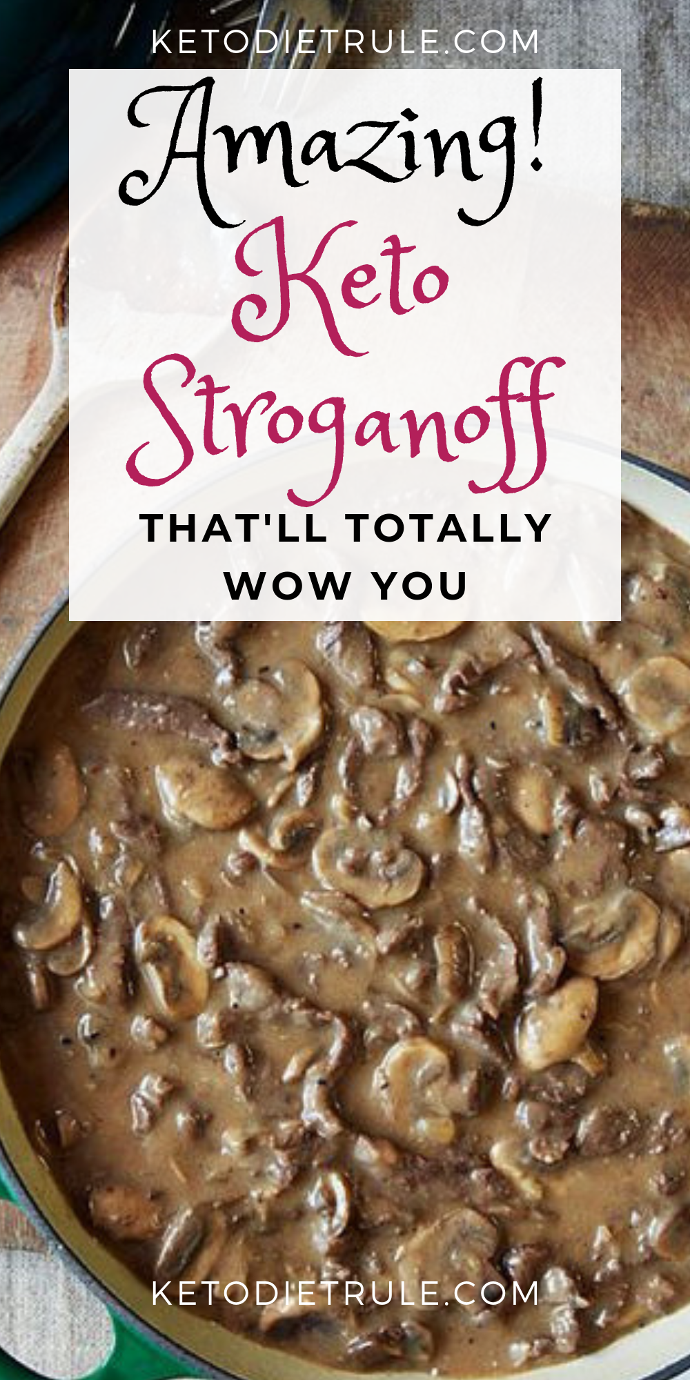 Amazing low-carb keto stroganoff recipe that'll totally wow you..