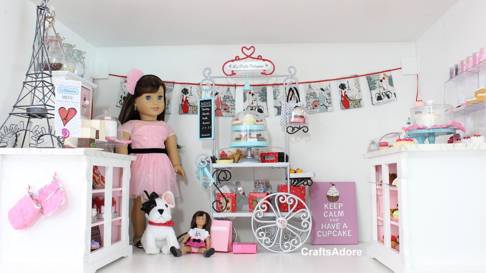 American Doll House Room Tour Grace S Little Bakery Set Up Hd