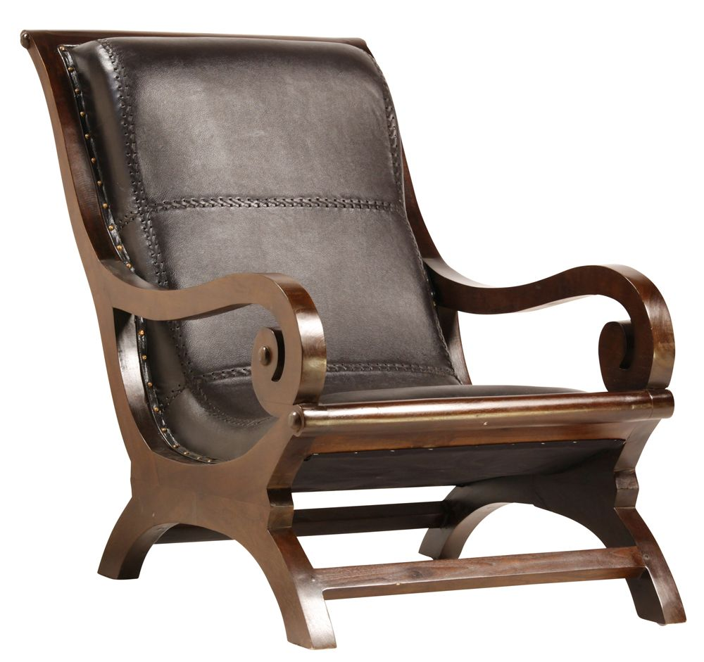 Lazy Chair Solid Teak Frame With Sealed Finish Hand