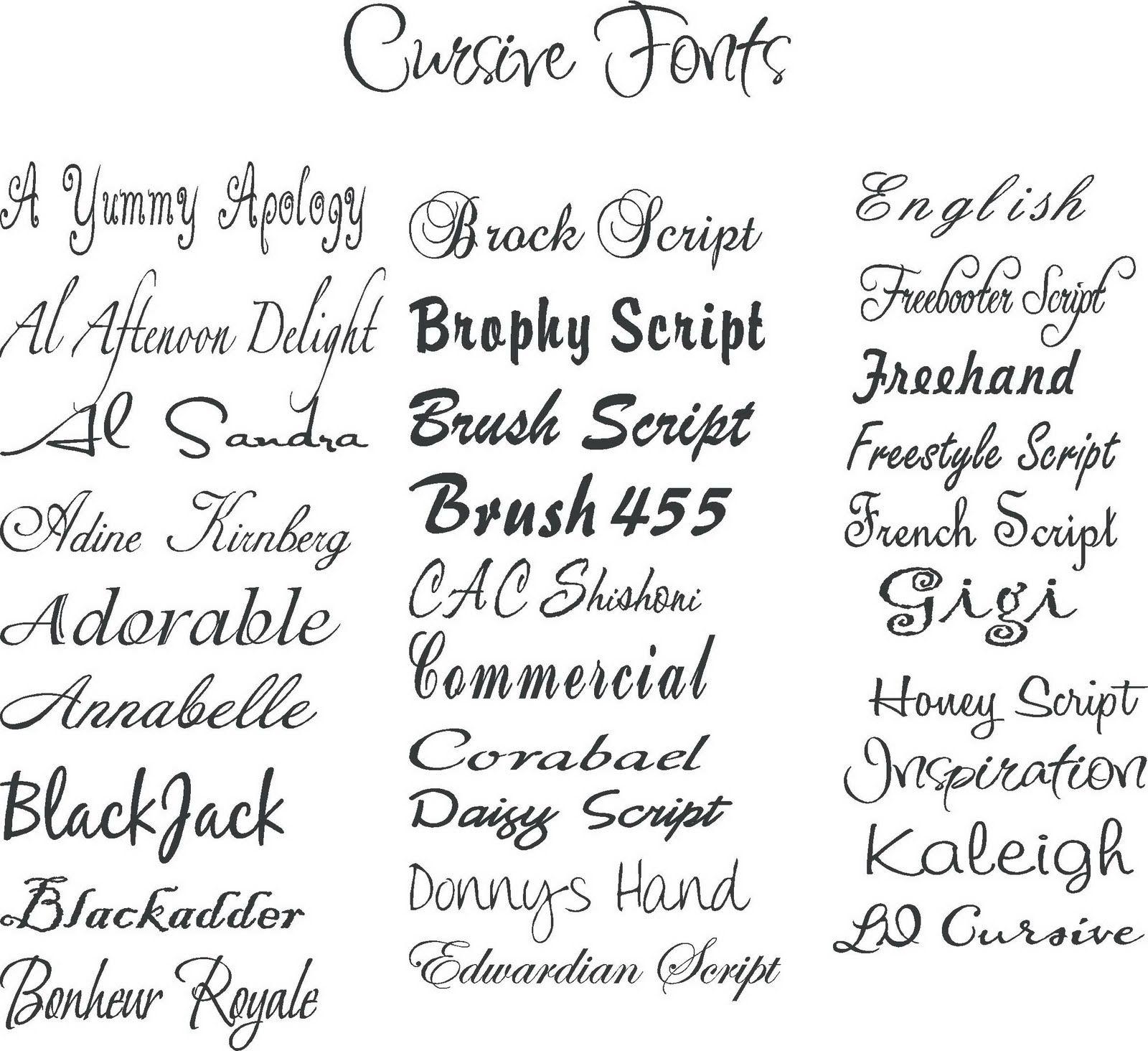 cool cursive font - Yeder berglauf-verband com