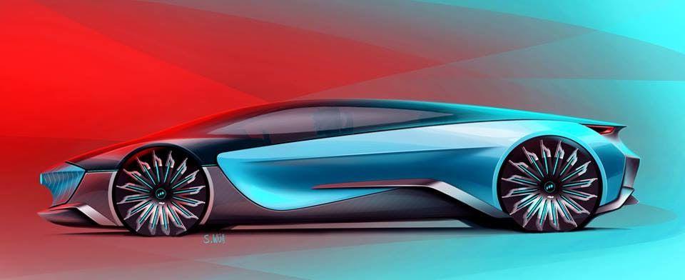Supercar Concept Design Sketch By Scott Weibnicht Automotive