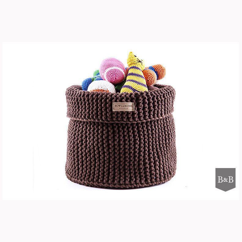 Brown Cotton Toy Basket Dog Toy Basket Toy Basket Little Puppies