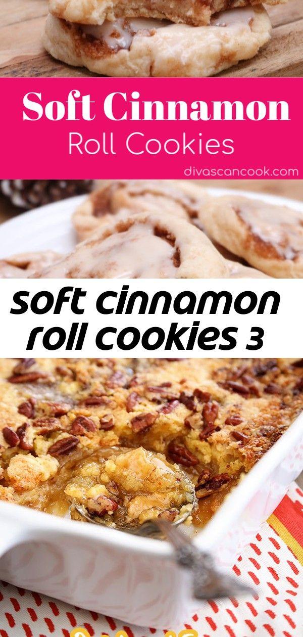 Soft cinnamon roll cookies 3 #cinnamonrollpokecake